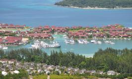 Seychelles harbor